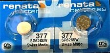 377 RENATA SR626SW SR626W WATCH BATTERIES (2 piece) New Authorized Seller