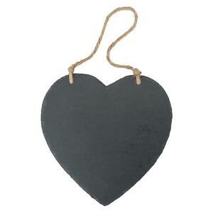 Schiefertafel in Herzform - zum Aufhängen - groß - 1 Stück