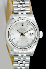 NEVER WORN Rolex Lady Datejust White Gold Steel Silver Dial 179174 Jubilee WATCH