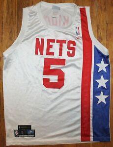 2003 NBA Finals Reebok New Jersey Nets #8 Jason Kidd Hardwood Classic Jersey