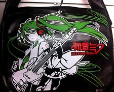Hatsune Miku Japan Anime bag, playing guitar, shoulder messenger bag UK, NEW
