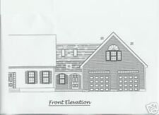 GARAGE ADDITION PLANS - CAPECOD/ COLONIAL STYLE