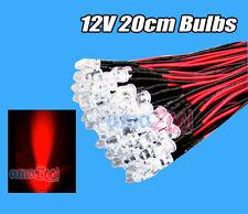 12v 3MM 20cm Cable de luz de flash LED Diodo línea precableado emitiendo signo claro