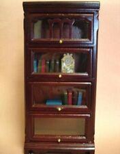 Dollhouse Miniature Mahogany Barrister Bookcase