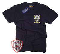 NYPD T-SHIRT NAVY BLUE SHORT SLEEVE OFFICIALLY LICENSED BY NEW YORK CITY