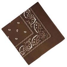 2017 Square Paisley Bandana Scarves Cotton Headwrap Hairband Kerchief Coffee BT