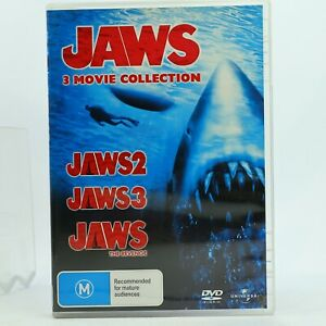 Jaws 3 x Movie Collection DVD Pack Jaws 2 3 The Revenge Thriller Region 4