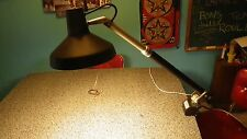 VEMCOLITE VL-4 VEMCO TELESCOPING DRAFTING TABLE TASK LIGHT DUAL BULB lamp, CLAMP