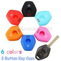 Silicone Remote Key Fob Shell Case Cover For BMW 3 5 7 Series X5 Z3 Z4 330