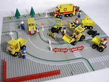 Lego Stadt Konvolut Sammlung Baufahrzeuge Construction vehicles Straßenplatten