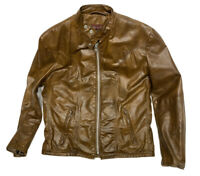 Vintage Schott Leather Cafe Racer Motorcycle Jacket Mens Size 40 Biker