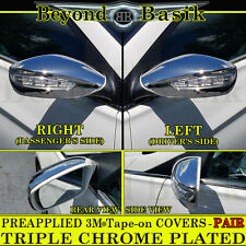 Fits 2011 2012 2013 2014 Hyundai Sonata Full Chrome Mirror Covers(w/TurnSignal)