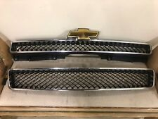 2007-2014 CHEVROLET TAHOE SUBURBAN FRONT UPPER AND LOWER GRILLE WITH EMBLEM NEW