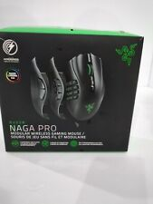 Razer Naga Pro Wireless Gaming Mouse: Interchangeable Side Plate, Black