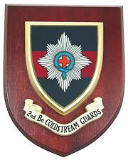 2ND BTN COLDSTREAM GUARDS HAND MADE IN UK REGIMENTAL MESS PLAQUE