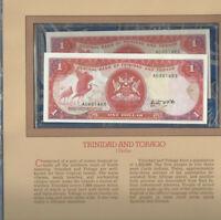 Most Treasured Banknotes Trinidad 1 Dollar 1985 P 36a UNC Consecutive #