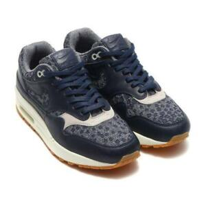 Nike Air Max 1 Trainers Girl's Women's OBSIDIAN/PLAE GREY