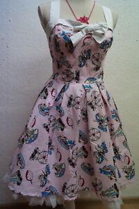hübsches Sommerkleid v. Hell Bunny bunt rosa  60er-Jahre-Stil Rockabilly Gr.XL