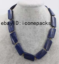 """lapis lazuli twist wave blue  beads 18"""" nature  wholesale discount necklace"""