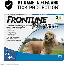 Frontline Plus Flea and Tick Treatment for Dogs-Medium Dog, 23-44 Pounds, 3 Dose
