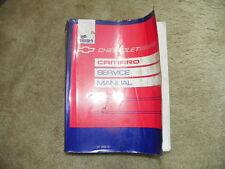 1991 Chevrolet Camaro Service manual