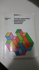 Martucci Violi - Tavole Numeriche logaritmiche finanziarie attuariali Tramontana