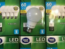 144 PACK LED 60W = 9W Soft White 60 Watt Equivalent A19 2700K E26 light bulb