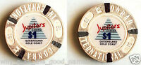 1990's JUPITERS CASINO Composite $1 POKER CHIP - CONRAD INTERNATIONAL HOTEL