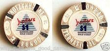 1990's JUPITERS CASINO Composite $1 POKER CHIP - CONRAD INTERNATIONAL HOTEL