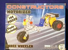 New, CONSTRUCTORS MOTORIZED (THREE WHEELER) tools included. 144pc kit.