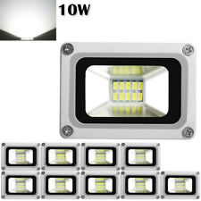 10X 10W Cool White LED Flood Light Outdoor Garden Security Spot Lamp Waterproof