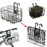 Foldable Folding Metal Wire Basket for Bike Bicycle Front Bag Rear Hanging Bike