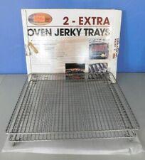 "Cabelas Oven Meat Jerky Dehydrating Racks, Trays Non Stick, 16 3/4 X 14"" 2 Racks"