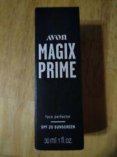 Avon Magix Prime Face Perfector Primer w/ Spf 20 Sunscreen 1 fl oz Nib