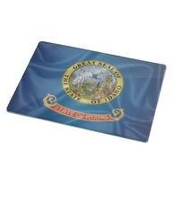 Rikki Knight RK-LGCB-2685 Idaho State Flag Glass Cutting Board, Large, White