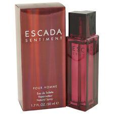 Escada Sentiment Pour Homme 50ml/ 1.7oz Men's Perfume EDT Spray New Sealed Rare