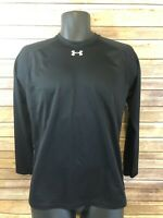 Under Armour Long Sleeve Shirt Size Small Mens Black Heat Gear Top Base Layer