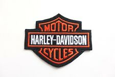 Harley Davidson Classic Orange Logo Sew-on Patch (Small)  embroidery