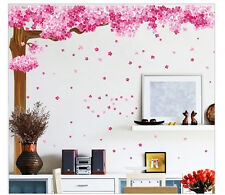 Pink Cherry Blossom Tree Wall Sticker Art Decal Bedroom TV Sofa Background Decor