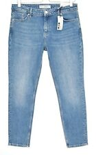 NEW Topshop BAXTER Slim Skinny Mid Rise Blue CROP Jeans Size 12 W30 L30