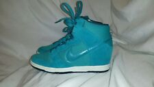 75686a42226d NIKE Womens Green Turquoise DUNK SKY HI ESSENTIAL 644877-300 Wedge Sneakers  7