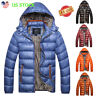 Men Quilted Padded Puffer Bubble Hooded Coat Lightweight Winter Jacket Outerwear