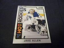 2012-13 Score Hot Rookies #544 Jake Allen Rookie Blues