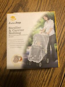 Jeep stroller & carrier white mosquito and insect netting