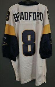 MEN REEBOK ST LOUIS RAMS SAM BRADFORD #8 NFL FOOTBALL SHIRT JERSEY SIZE 3XL XXXL