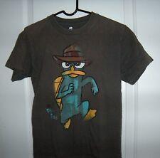 Disney Fineas & Ferb T-Shirt Short Sleeve Boys Size 10-12 Funny Cartoon