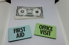 Medical Monopoly Office Visit First Aid Cards Money Replacement Parts Only