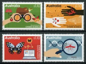 Australia Citizen Science Stamps 2020 MNH Butterflies Frogs Lizards 4v Set