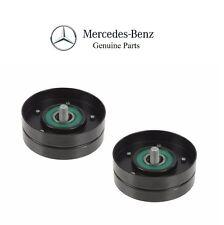 For Mercedes W203 R170 SLK32 AMG Super Set of 2 Drive Belt Idler Pulleys Smooth