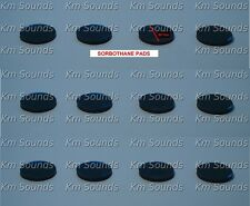12 x SORBOTHANE isolating feet pads  40MMx6.35MM for amplifiers,  turntables !!!